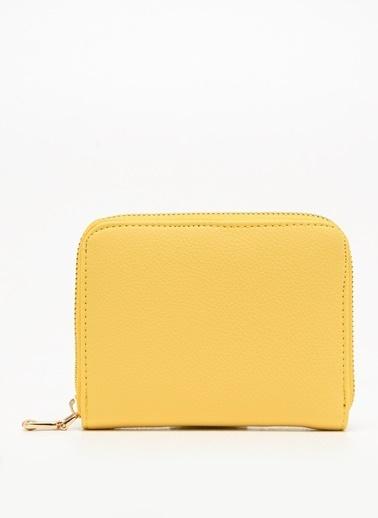 F By Fabrika Fabrika Deri Görünümlü Renk Zurich Kadın Cüzdan Sarı